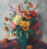 Josef Lindemann  (*1880) » Öl-Gemälde Blumen Stillleben Impressionismus