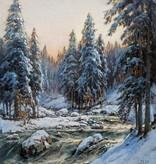 Karl Schmitz-Schulten (1870 - 1958) » Öl-Gemälde Impressionismus Winter Landschaft Düsseldorfer Malerschule