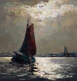 Helmut Kaluza (1912 - 1984) » Öl-Gemälde Spätimpressionismus Meer norddeutsche Marinemalerei