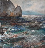 Nicola Costanzi (1893-1967) » Öl-Gemälde Impressionismus Meer Italien Capri italienische Küstenlandschaft