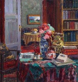 Maler um 1900 » Öl-Gemälde Impressionismus Interieur Stillleben