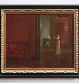 Georg Tyrahn (1842 - 1914) zugeschr. » Öl-Gemälde Impressionismus Schloss Interieur