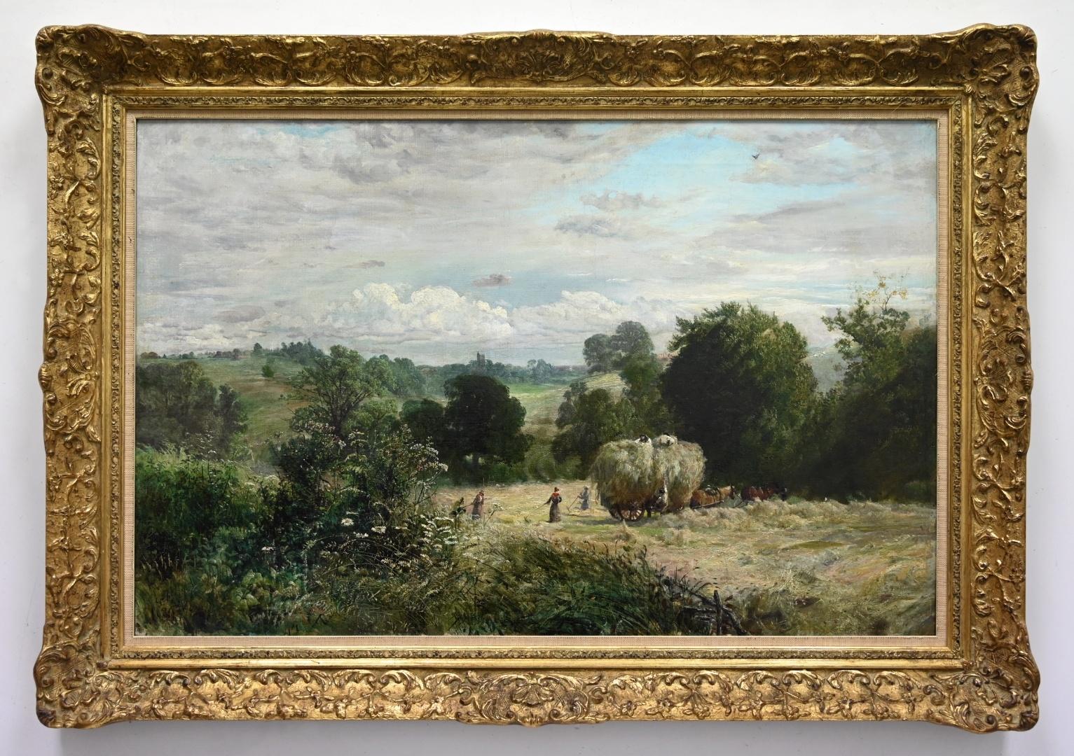 Maler des 19. Jahrhunderts  » Öl-Gemälde Realismus Ernte Landschaft englische Schule