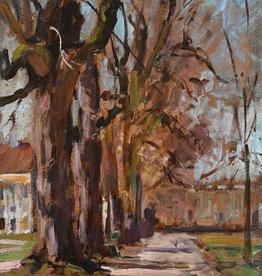 Fanny Edle von Geiger-Weishaupt (1862 - 1931) » Öl-Gemälde Schloss Park Nymphenburg München Impressionismus