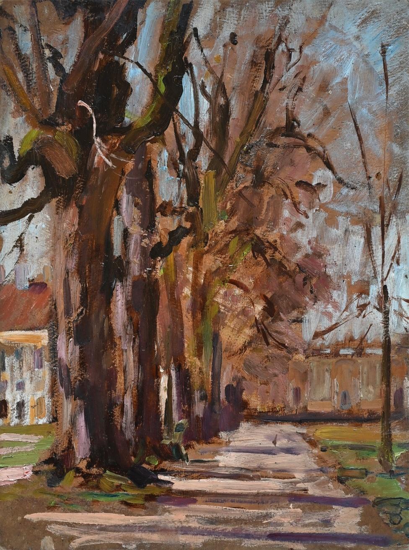 Fanny Edle von Geiger-Weishaupt (182 - 1931) » Öl-Gemälde Schloss Park Nymphenburg München Impressionismus