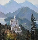 Anna Klein (1883 - 1941) » Öl-Gemälde Schloss Neuschwanstein Impressionismus Dachauer Künstlerkolonie süddeutsche Malerei