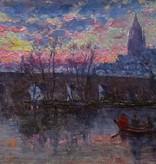 August Haenlein (Frankfurter Maler um 1900) » Öl-Gemälde Impressionismus Frankfurt am Main Altstadt Ansicht