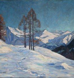 Elfriede Jungk (1889 - 1955) » Öl-Gemälde Winter Alpen Landschaft Klassische Moderne