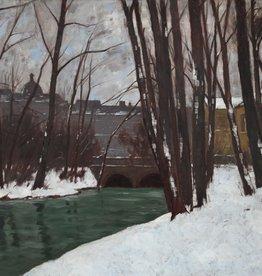 Carl Küstner (1861 - 1934) - Öl-Gemälde Winter Englischer Garten München Park Landschaft