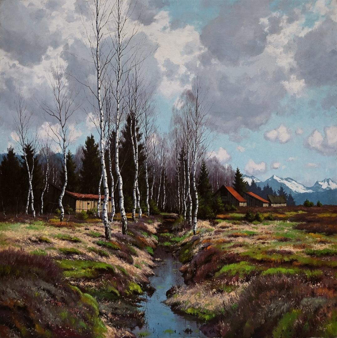 Carl Schaette (1884 - 1951) » Öl-Gemälde Impressionismus Landschaft süddeutsche Malerei