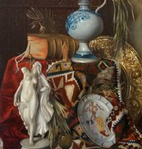Maler um 1900 » Öl-Gemälde Historismus Stillleben Interieur