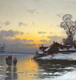 Carl Bertold (*1870) » Öl-Gemälde Winter Landschaft Düsseldorfer Malerschule