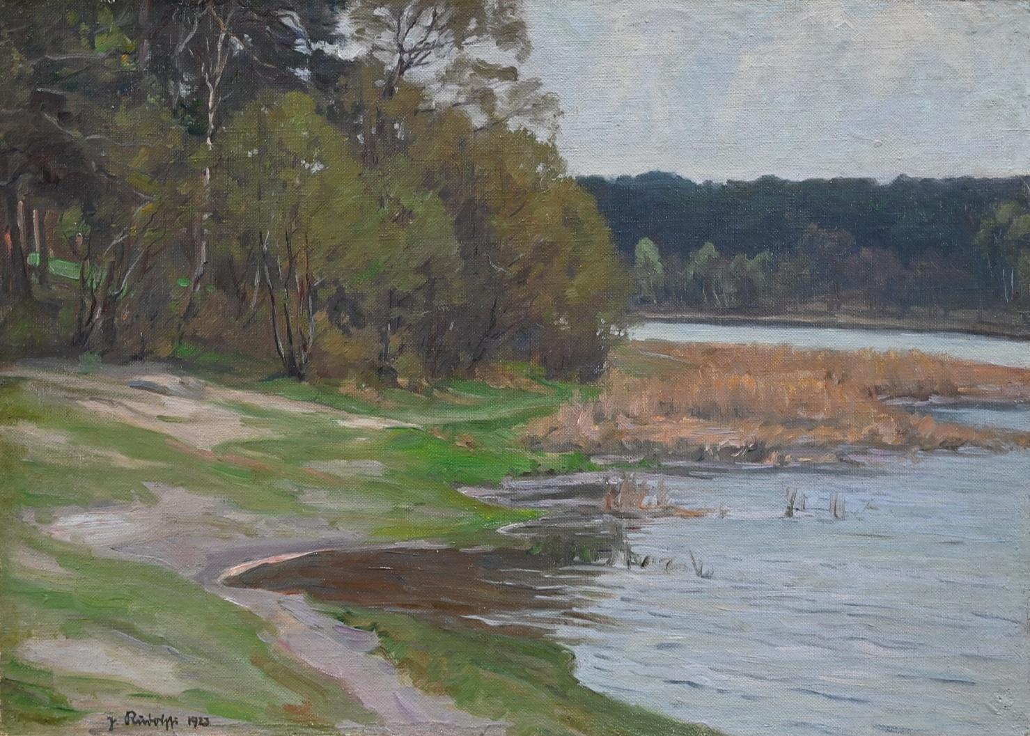 Johannes Rudolphi (1877 - 1950) » Öl-Gemälde Impressionismus Berliner Secession Waldsee