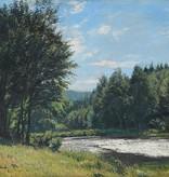 Richard Thierbach (1860 - 1931) » Öl-Gemälde Impressionismus Naturalismus Harz Wald Landschaft