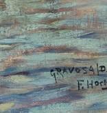 Franz Xaver Hoch (1869 - 1916) » Öl-Gemälde Impressionismus Meer mediterrane Küstenlandschaft