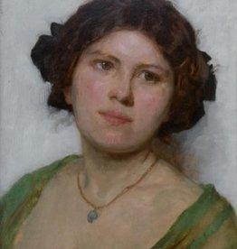 Simon Glücklich (1863 - 1943) » Öl-Gemälde Impressionismus Jugendstil Damenporträt Wiener Schule
