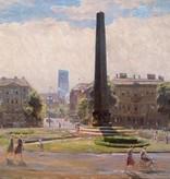 Louis Wöhner (1888 - 1958) » Öl-Gemälde Impressionismus Architektur Stadtansicht München