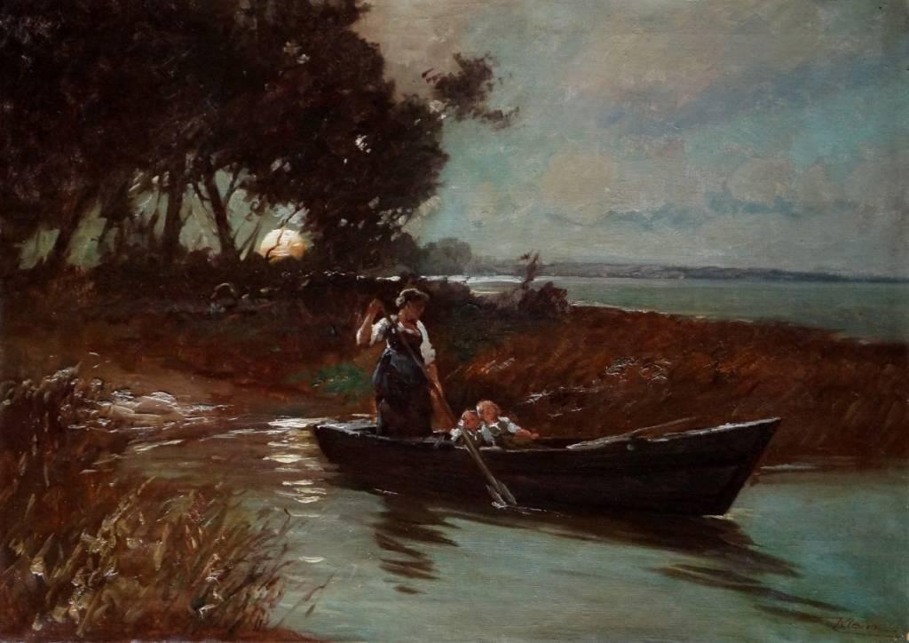 Anna Klein (1883 - 1941) » Öl-Gemälde Münchner Malerschule Dachauer Künstlerkolonie