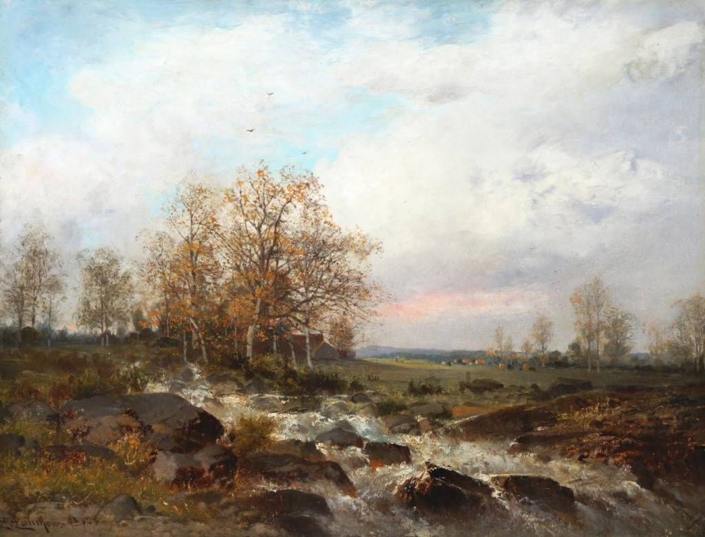 Ludwig Lanckow (1845 - 1908) » Öl-Gemälde Landschaft Düsseldorfer Malerschule