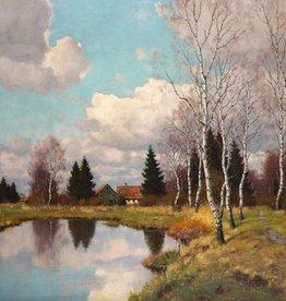 Carl Schaette (1884 - 1951) » Öl-Gemälde Impressionismus Landschaft