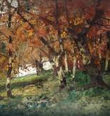 Anton Müller-Wischin (1865 - 1949) » Öl-Gemälde Postimpressionismus Waldlandschaft