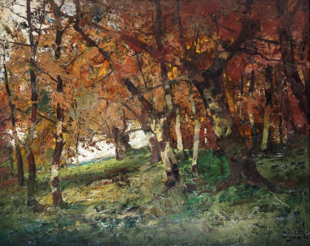 Anton Müller-Wischin (1865 - 1949) » Gemälde Waldlandschaft