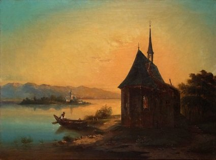 Künstler um 1840 (Chiemsee-Maler)