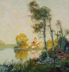 Antoine Bouvard (1870 - 1956) » Öl-Gemälde Impressionismus Frankreich Landschaft
