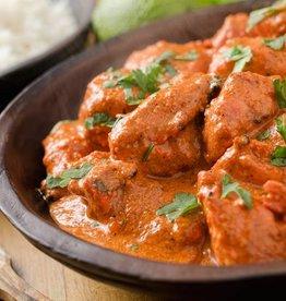 Curry stoofpotje met kip, groenten en rijst