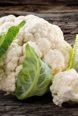 Kipdijstukjes, gebakken aardappels en bloemkool in kruidensaus
