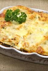Ovenschotel met prei en ananas (vegetarisch)