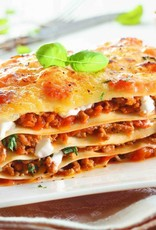 Lasagne van rundergehakt, groenten en bolognesesaus