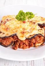 Lasagne van courgette, aubergine en milde tomatensaus