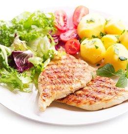 Kipfilet ham & kaas, aardappels en groenten