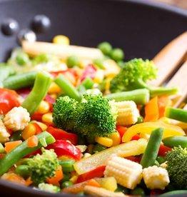 Bakschotel met krieltjes, gehakt en groenten