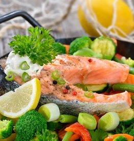 Zalmfilet, broccoli en aardappelen