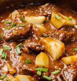 Ierse stoofpot met rundvlees, prei en aardappel