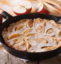 Pannenkoekenschotel appel, kaneel en vanillesaus (V)