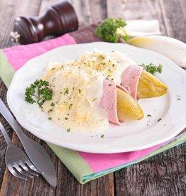 Boomstammetje, aardappel&witlof ham/kaas