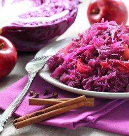 Hachee met rode kool & appeltjes en puree