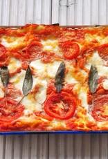 Tomaten-kaas-casserole uit de oven (vegetarisch)