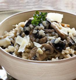 Heekfilet met risotto en gemengde groenten