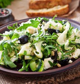 Pasta in room met groene groenten (V)