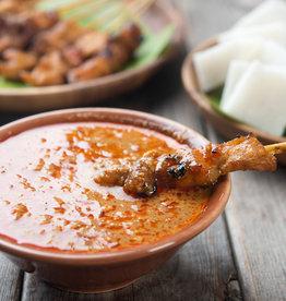 Kipsate spiezen met rijst & coleslaw