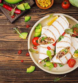 Burrito met gehakt, groenten en kaas
