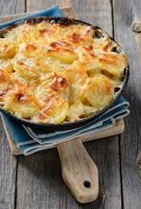 Aardappelgratin met spinazie, kaas & paddestoelen (vegetarisch) - Copy