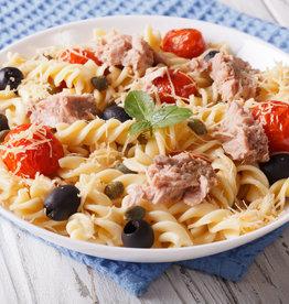 Tonijn met gnocchi-pasta, arrabiata & groenten