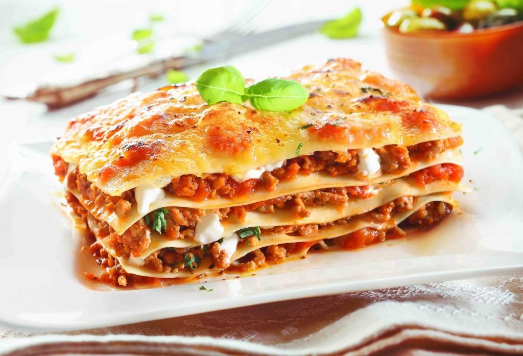 Lasagne bolognese met vegetarisch gehakt en groenten (V)