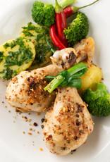 Kiphaasjes met groenten en krieltjes