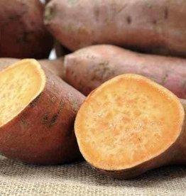 Zoete aardappelstamppot met prei en spekjes